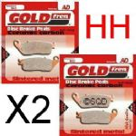 "STREET TRIPLE 675 ""Naked"" 2007-11: ""FULL FRONT SET"" Goldfren ""HH"" Brake Pads GF022HH =2xpair"